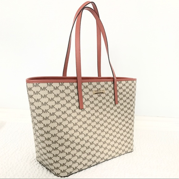 8a65a9a41afe New Authentic MK Emry large TZ Tote natural orange